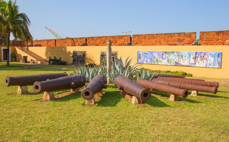 Fort i Maputo, Mocambique royaltyfri fotografi
