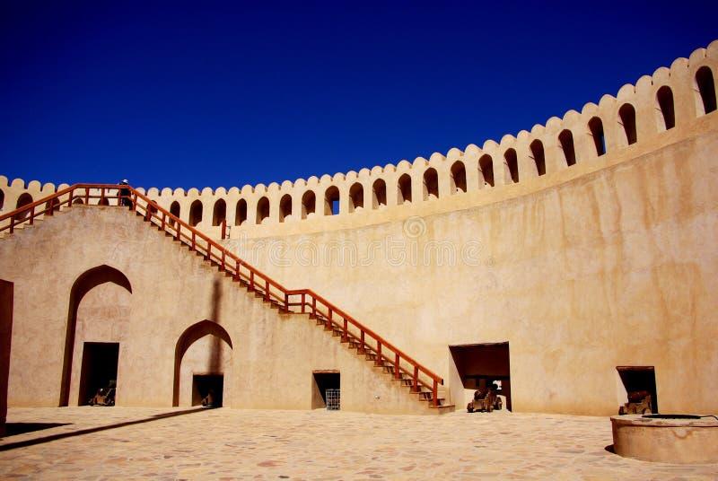 Fort intérieur de Nizwa image stock