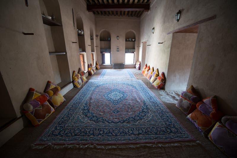 Fort intérieur Oman de Nizwa photo stock