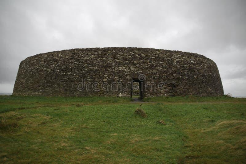 Fort irlandais d'anneau dans le Donegal Grianan d'Aileach image stock