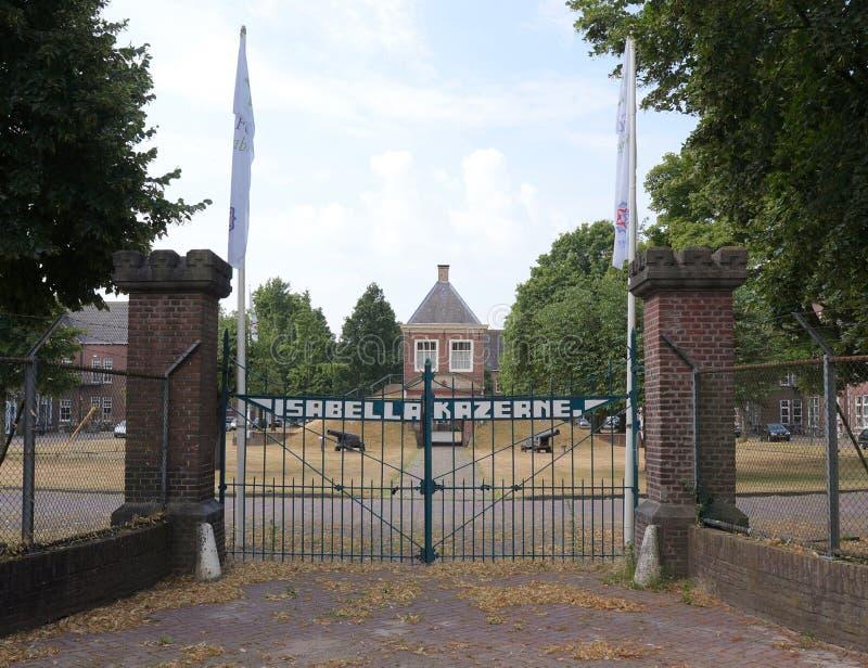 Fort Isabella i Vught, Nederländerna fotografering för bildbyråer