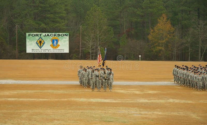 Download Fort Jackson Parade editorial photography. Image of ceremony - 7520532