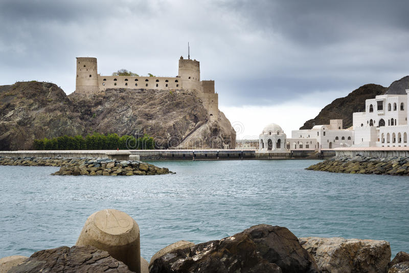Fort Jalali Muscat. Picture of fort Jalali in Muscat, Oman stock photo