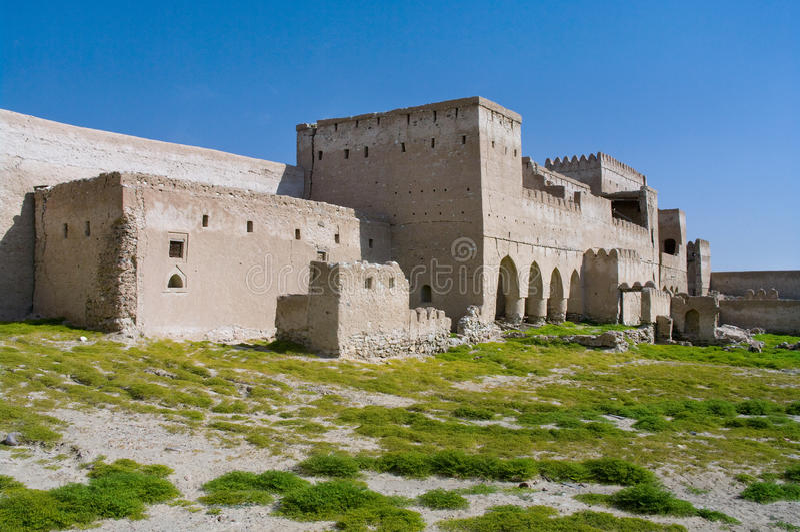 Fort Jalan Bani Bu Ali, Sultanate of Oman royalty free stock photos