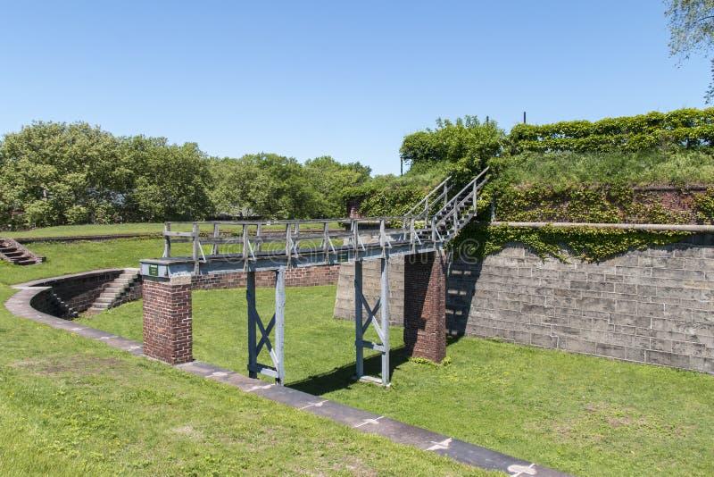 Fort Jay na gubernator wyspie w Miasto Nowy Jork fotografia stock