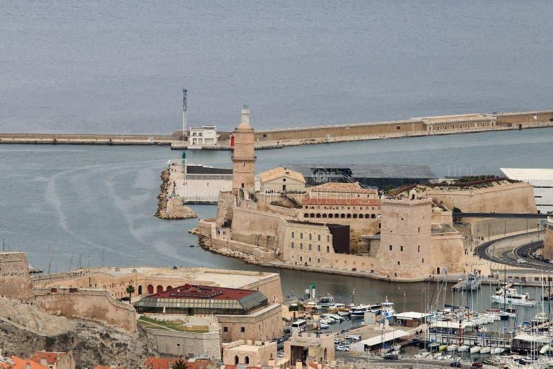 Fort Jean, Marseille, Śródziemnomorski, Francja zdjęcie stock