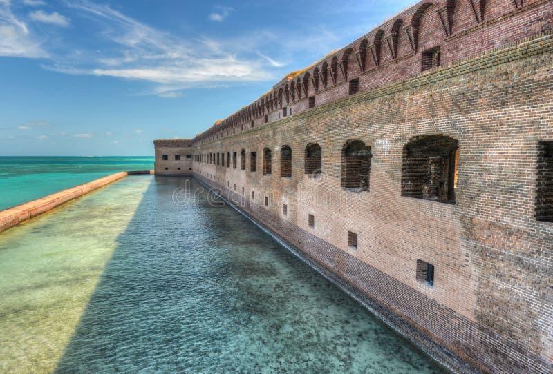 Fort Jefferson bij het Droge Nationale Park van Tortugas royalty-vrije stock afbeeldingen