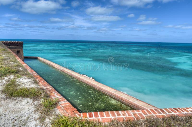 Fort Jefferson bij het Droge Nationale Park van Tortugas royalty-vrije stock afbeelding