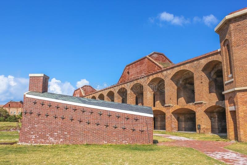 Fort Jefferson Courtyard arkivfoto