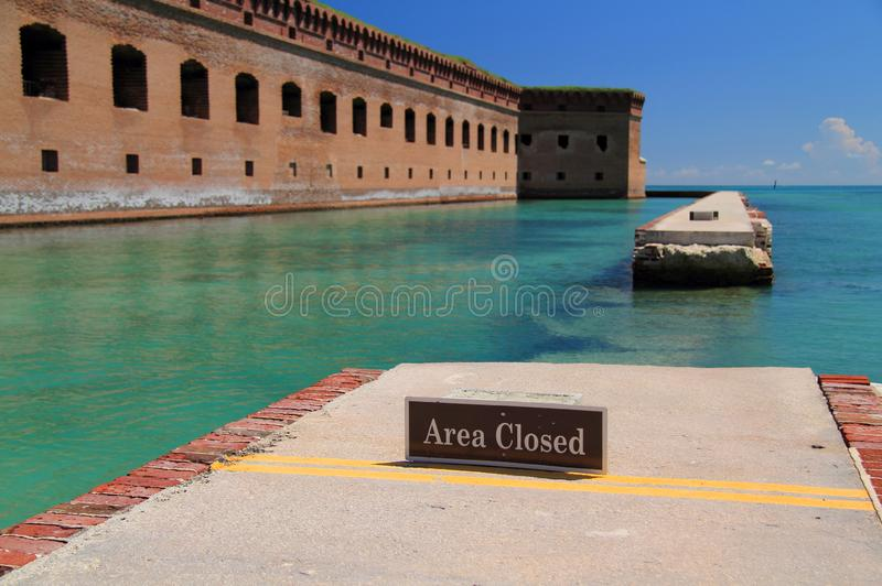 Fort Jefferson in the Dry Tortugas. Located on Garden Key in Dry Tortugas National Park, Fort Jefferson is perhaps the most isolated and intricately built of all royalty free stock photo