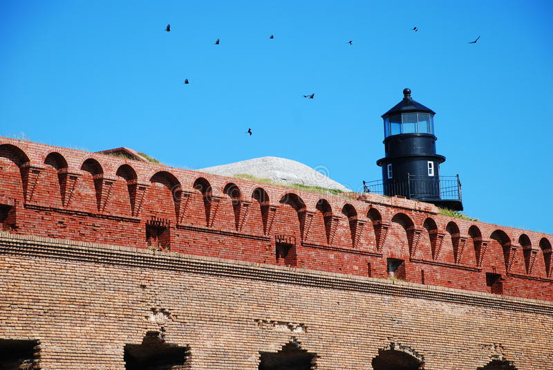 Fort Jefferson in Dry Tortugas National Park stock images