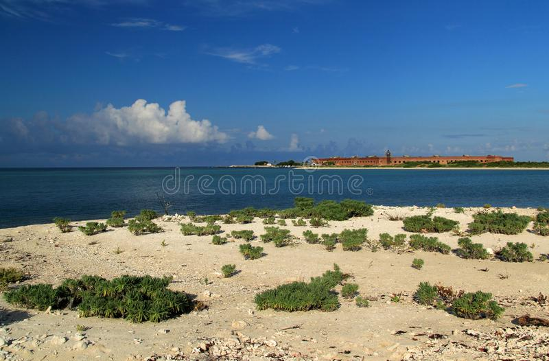 Fort Jefferson in Dry Tortugas National Park, Florida Keys. Located on Garden Key in Dry Tortugas National Park, Fort Jefferson is perhaps the most isolated and stock photo