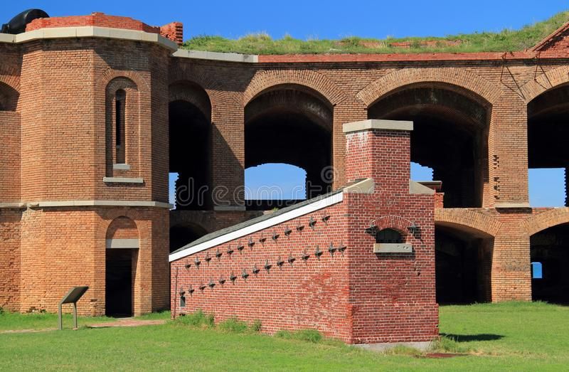 Fort Jefferson in Dry Tortugas National Park, Florida Keys. Located on Garden Key in Dry Tortugas National Park, Fort Jefferson is perhaps the most isolated and stock images