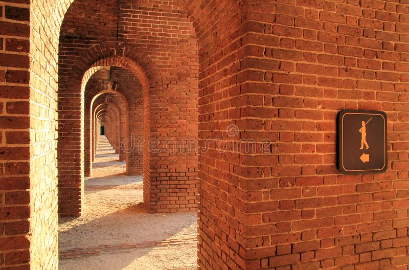 Fort Jefferson in Dry Tortugas National Park, Florida Keys. Located on Garden Key in Dry Tortugas National Park, Fort Jefferson is perhaps the most isolated and royalty free stock image