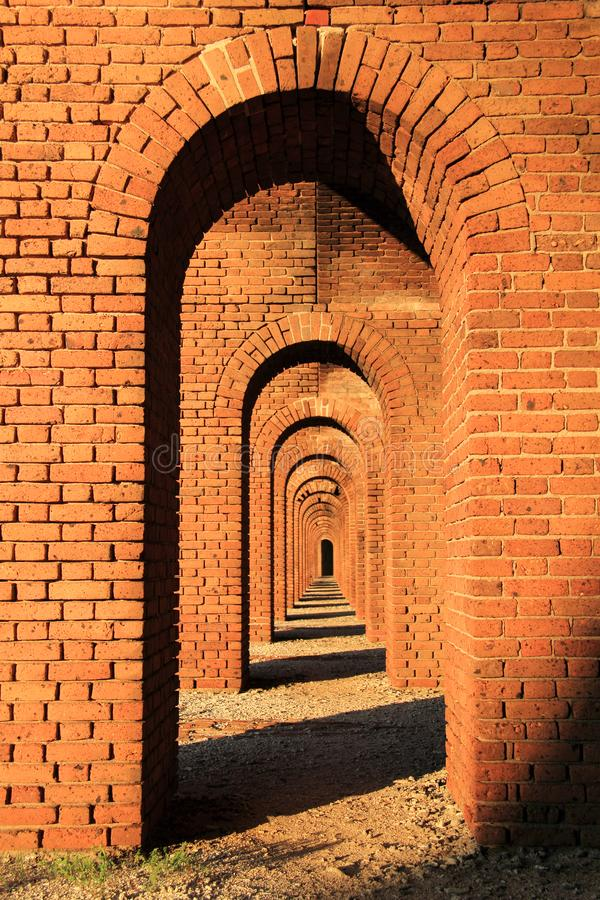 Fort Jefferson in Dry Tortugas National Park, Florida Keys. Located on Garden Key in Dry Tortugas National Park, Fort Jefferson is perhaps the most isolated and royalty free stock images