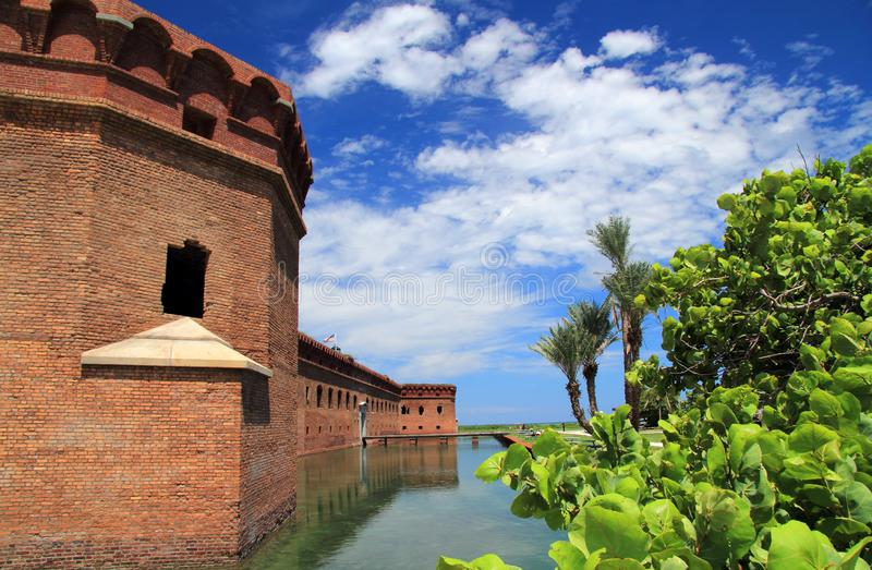 Fort Jefferson in Dry Tortugas National Park, Florida Keys. Located on Garden Key in Dry Tortugas National Park, Fort Jefferson is perhaps the most isolated and stock photos