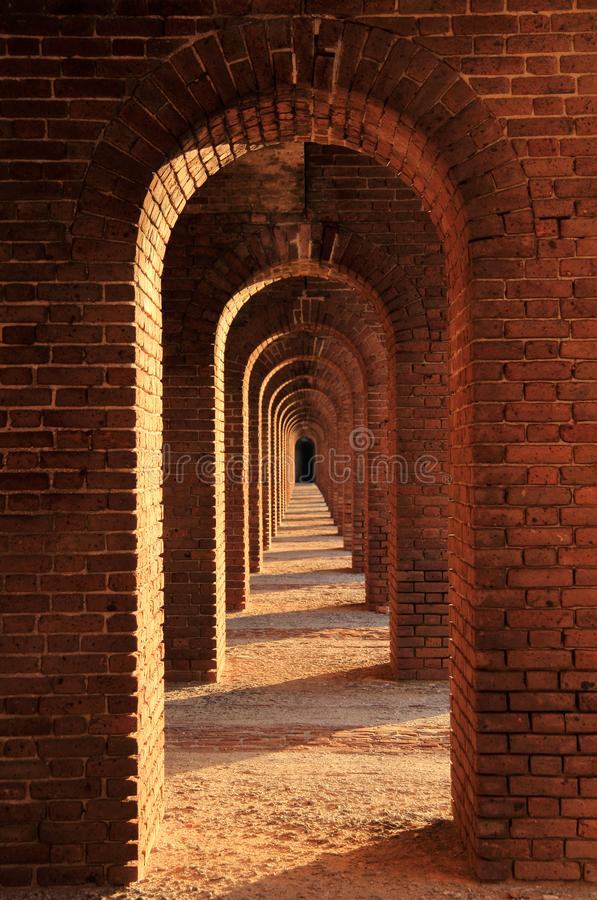 Fort Jefferson Interior, Dry Tortugas National Park, Florida Keys. Located on Garden Key in Dry Tortugas National Park, Fort Jefferson is perhaps the most stock photography