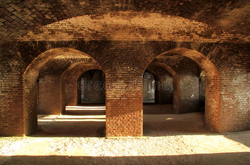 Fort Jefferson Interior, Dry Tortugas National Park, Florida Keys. Located on Garden Key in Dry Tortugas National Park, Fort Jefferson is perhaps the most stock images