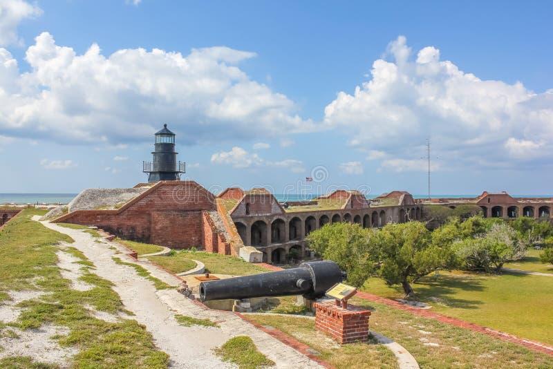 Fort Jefferson Lighthouse royaltyfria foton