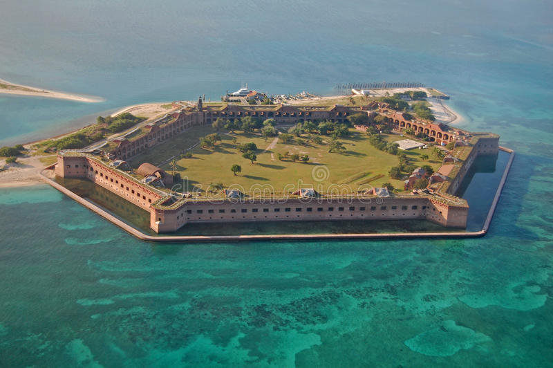 Fort Jefferson, stationnement national sec de Tortugas images libres de droits
