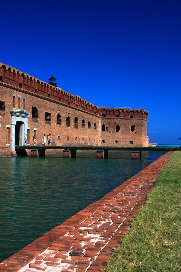 Fort Jefforson. In Dry Tortugas National Park royalty free stock images