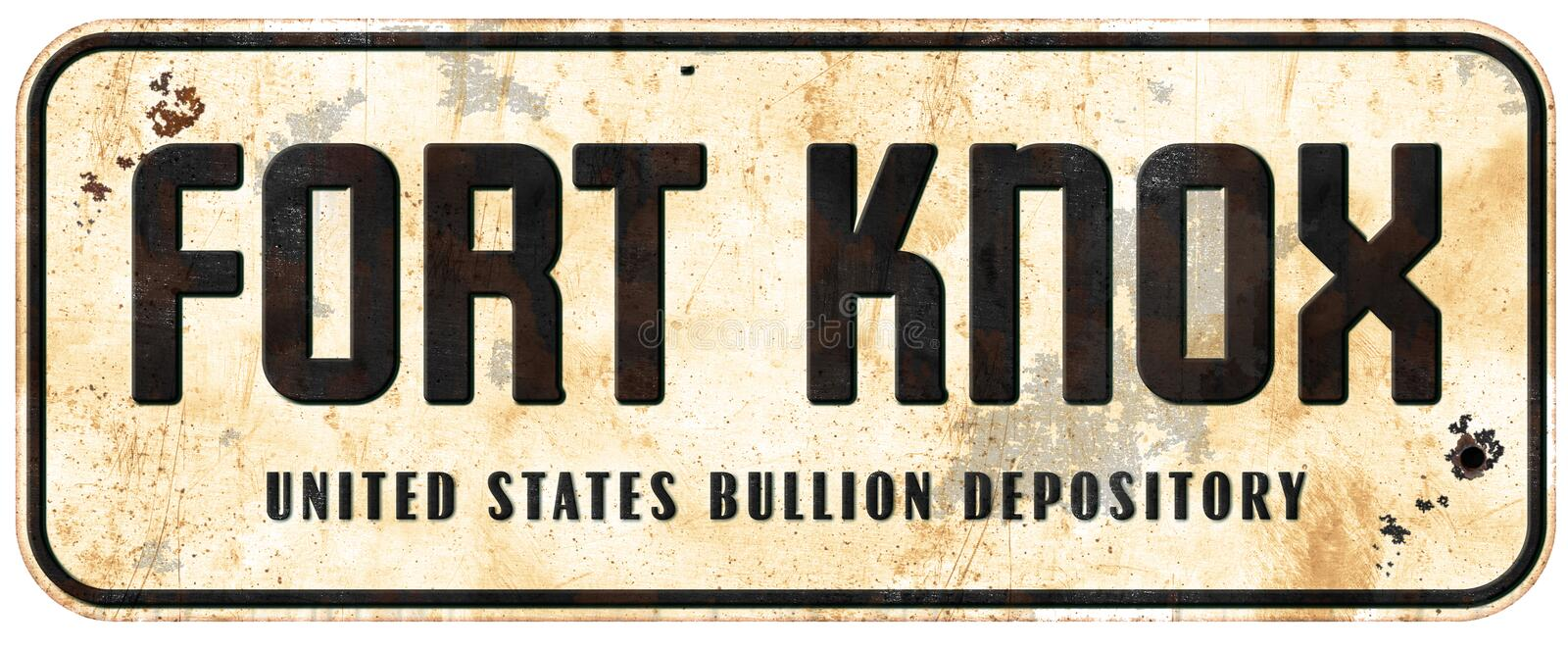 Fort Knox Sign photo stock