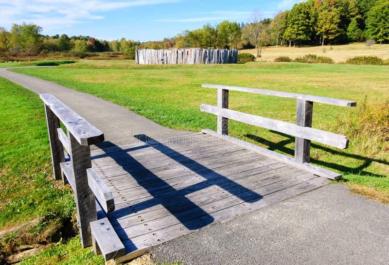 Fort konieczności obywatela pole bitwy fotografia stock