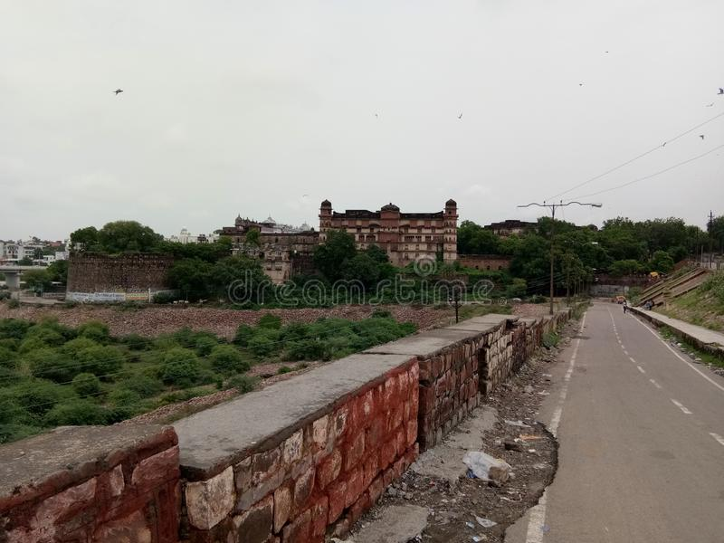 The fort of kota in india. The fort of  in india, historical, view, palace royalty free stock image