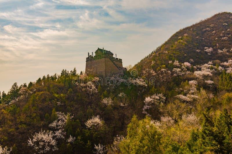 Fort langs de Grote Muur stock afbeelding