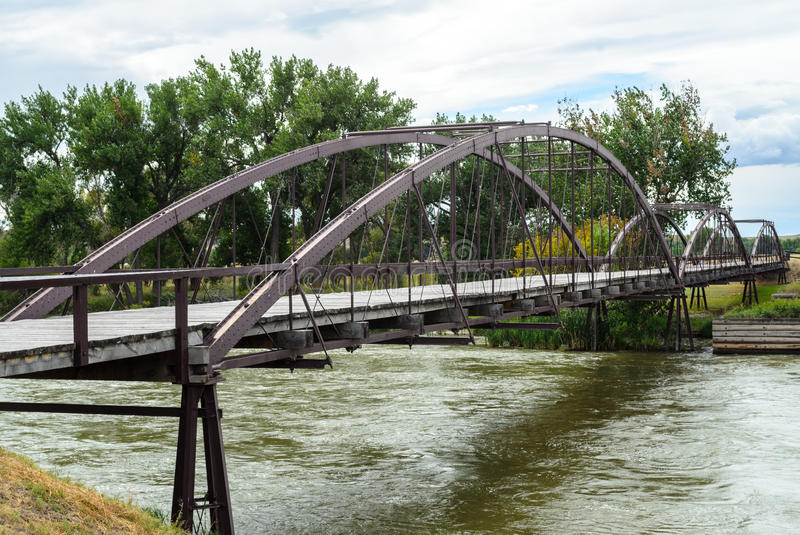 Fort Laramie Bridge. Wyoming Historic stock image