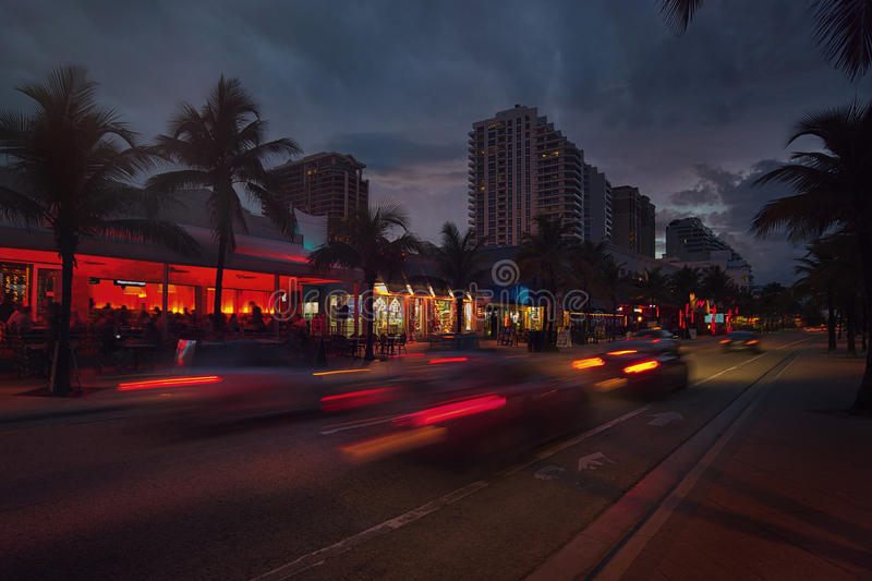 Fort Lauderdale Beach blvd stock photography