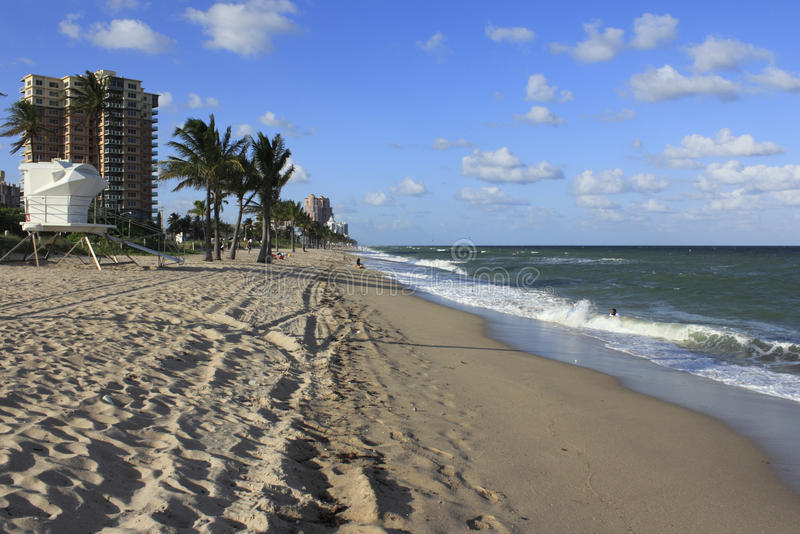 Fort Lauderdale Beach South of Sunrise stock photography