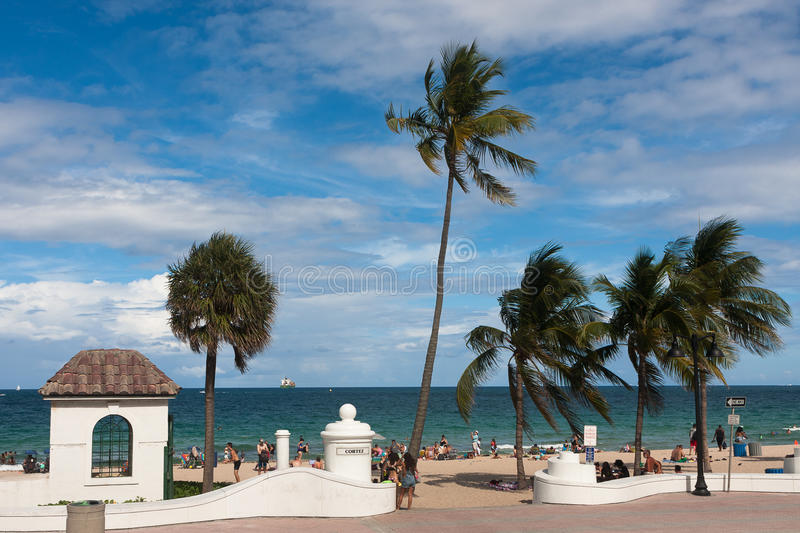 Fort Lauderdale beach. View of Fort Lauderdale beach in Florida, USA stock images