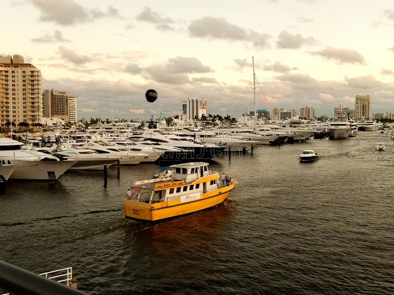 Fort Lauderdale Boat Show stock photos