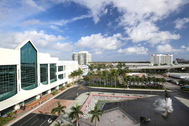 Fort Lauderdale Convention Center and Port Everglades royalty free stock image