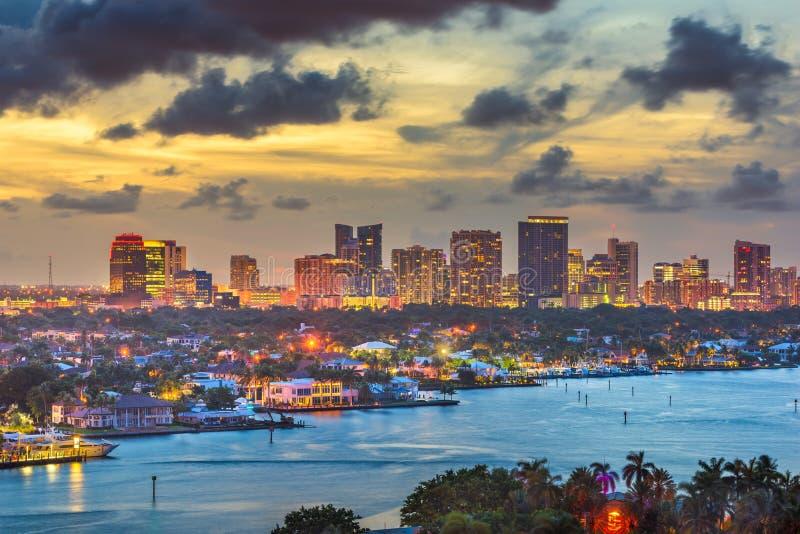 Fort Lauderdale Florida, USA horisont arkivfoton