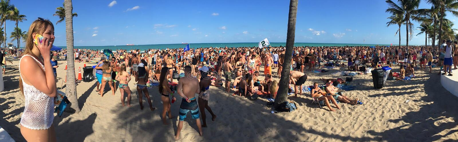 Spring Break on Fort Lauderdale Beach, `Where the Boys Are.` stock photos