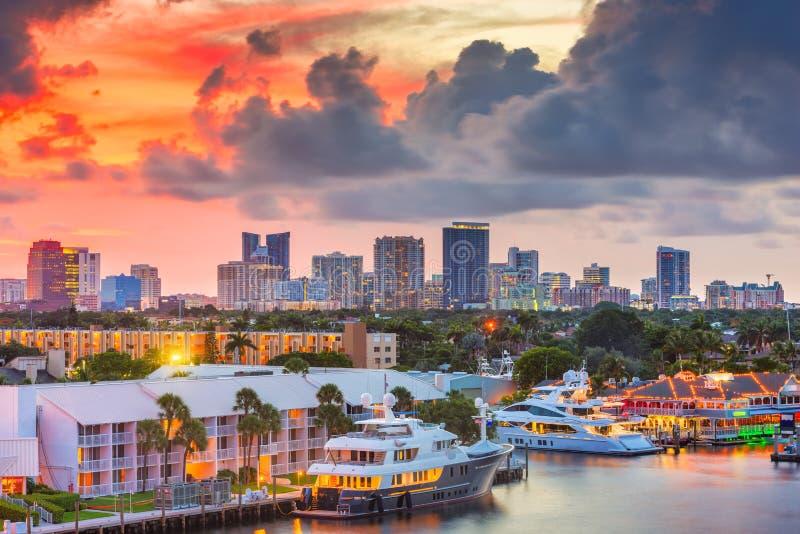 Fort Lauderdale, horizonte de la Florida, los E.E.U.U. imagen de archivo