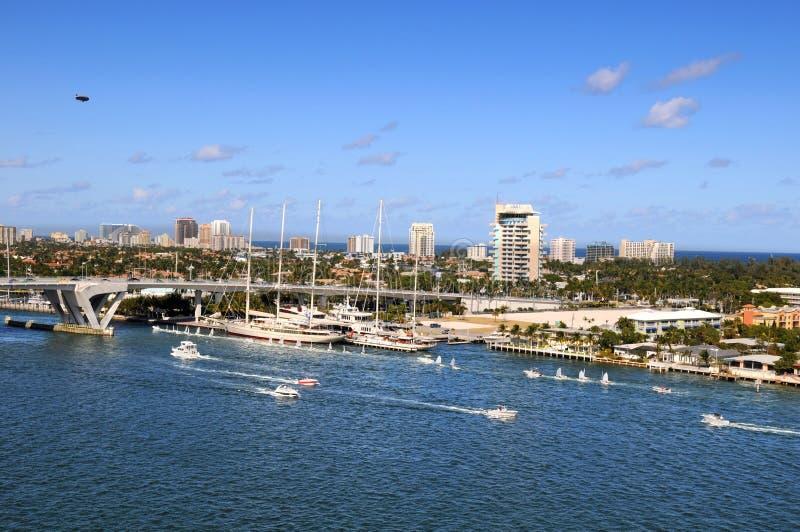 Fort Lauderdale port royaltyfri fotografi
