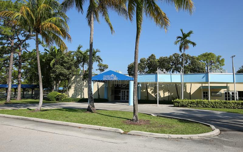 Fort Lauderdale`s Park and Recreation Center stock photography
