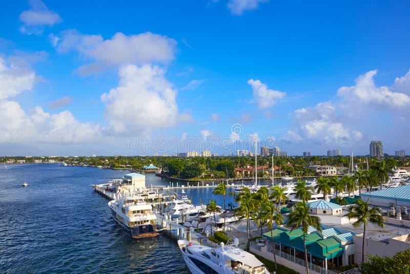 Fort Lauderdale Stranahan-Fluss an A1A Florida stockbild