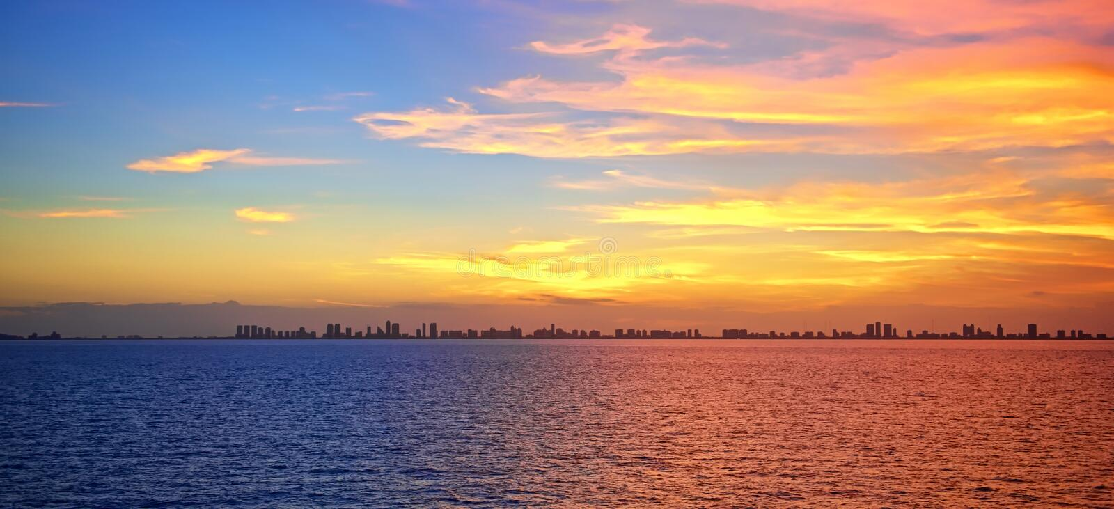 Fort Lauderdale Sunset royalty free stock images