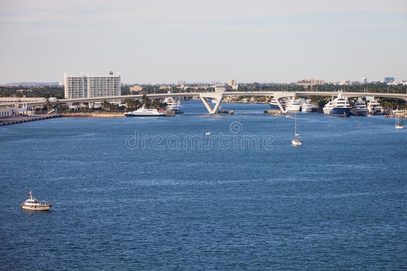 Fort Lauderdale-Wasserstraße stockfotos