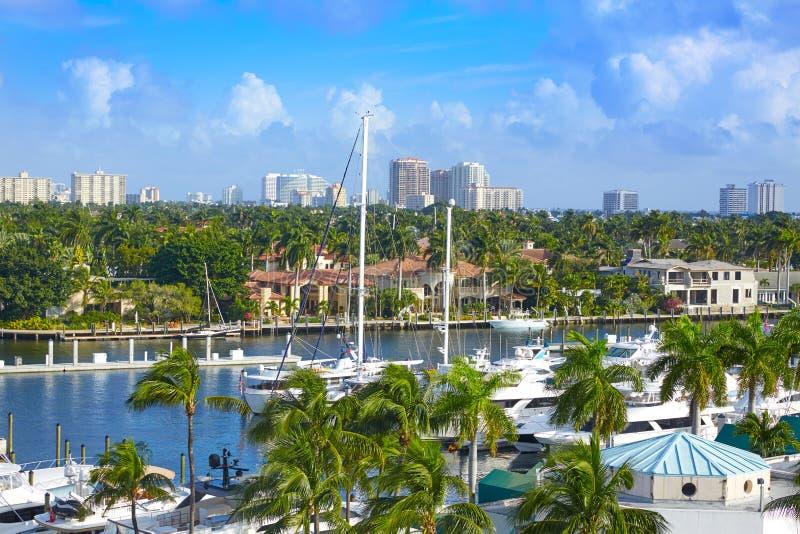 Fort LauderdaleStranahan flod på A1A Florida royaltyfri bild