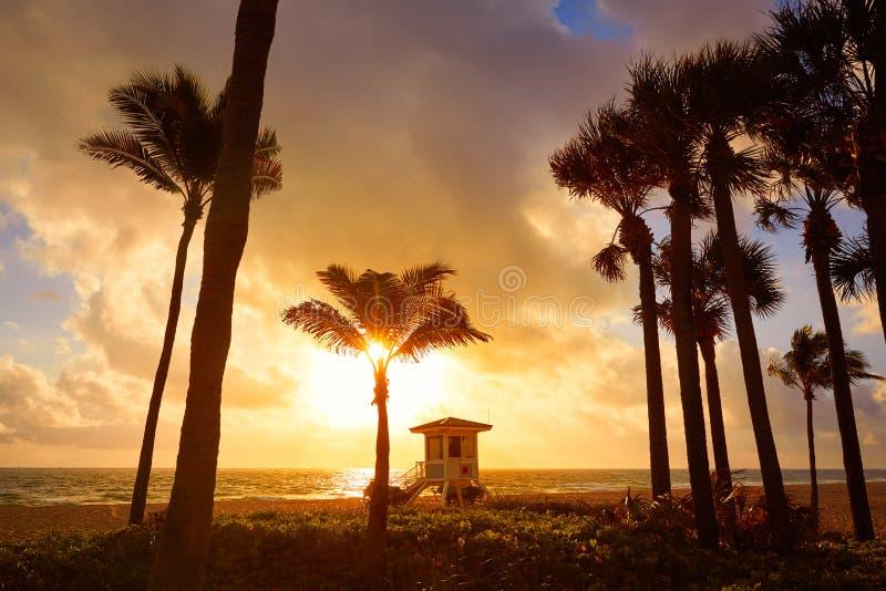 Fort Lauderdalestrandsoluppgång Florida USA royaltyfri fotografi