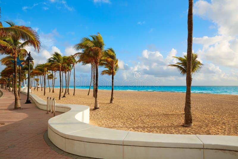 Fort Lauderdalestrandsoluppgång Florida USA royaltyfri bild