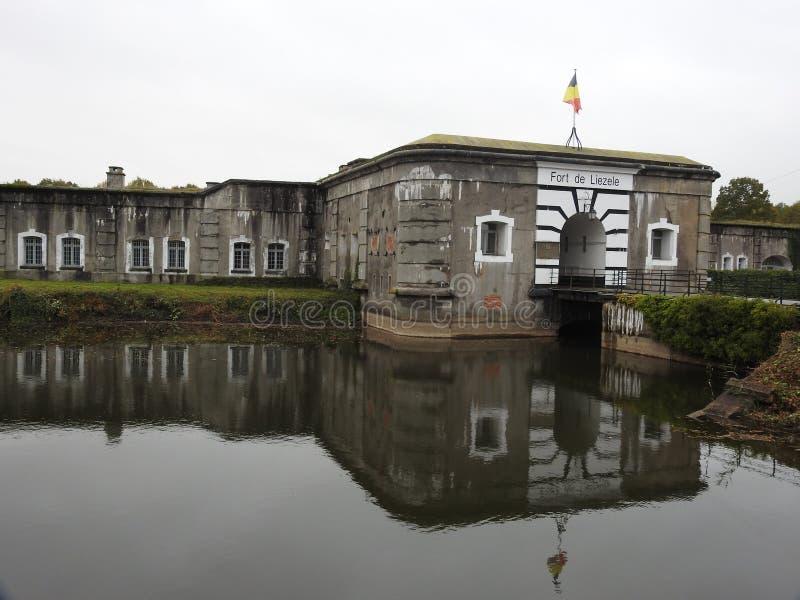 Fort Liezele, Puurs, Belgia - zdjęcie royalty free