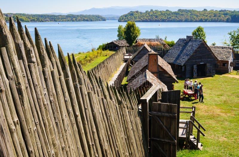 Fort Loudoun-Zustands-historische Stätte stockbilder