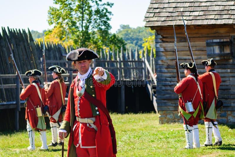Fort Loudoun-Zustands-historische Stätte stockbild