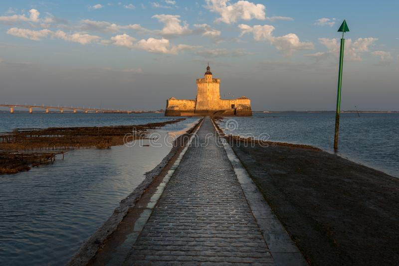 Fort Louvois at low tide, Charente-Maritime, France. Fort Louvois at low tide, Charente-Maritime in France royalty free stock image